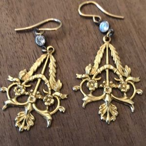 Gold chandelier design earrings